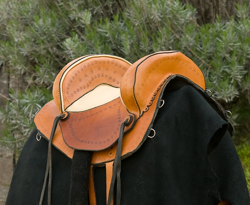 trail saddle front view