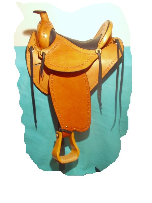 Western saddle with horn